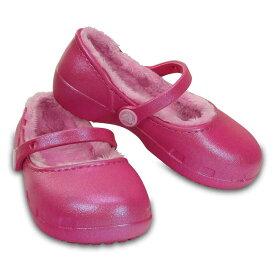 [マラソン中ポイント5倍][クロックス] crocs 203512 キッズ ジュニア | クロッグサンダル | crocs karin lined clog kids | クロックス カリン ラインド クロッグ キッズ | 子供靴 女の子 | パーティーピンク SP