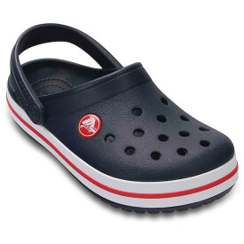 [マラソン中ポイント5倍][クロックス] crocs 204537 キッズ ジュニア | クロッグサンダル | crocband kids | クロックバンド キッズ | 子ども靴 男の子 女の子 | ネイビー×レッド