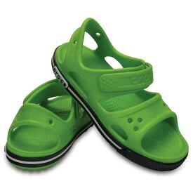 [マラソン中ポイント5倍][クロックス] crocs 14854 キッズ ジュニア | キッズサンダル | crocband™ 2.0 sandal PS | クロックバンド™ 2.0 サンダル PS | 男の子 女の子 | ボルトグリーン×ネイビー SP