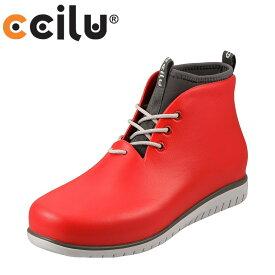 チル ccilu カジュアルシューズ 301037 メンズ 靴 シューズ 2E相当 ローカットスニーカー 軽量 防水 レースアップ ワークブーツ風 大きいサイズ対応 28.5cm レッド SP