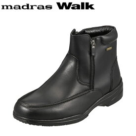 [マラソン中ポイント5倍]マドラスウォーク madras Walk ブーツ SPMW5479 メンズ 靴 シューズ 4E相当 ショートブーツ 防水 幅広 防滑 歩きやすい 仕事 通勤 ビジネス 小さいサイズ対応 24.5cm ブラック SP