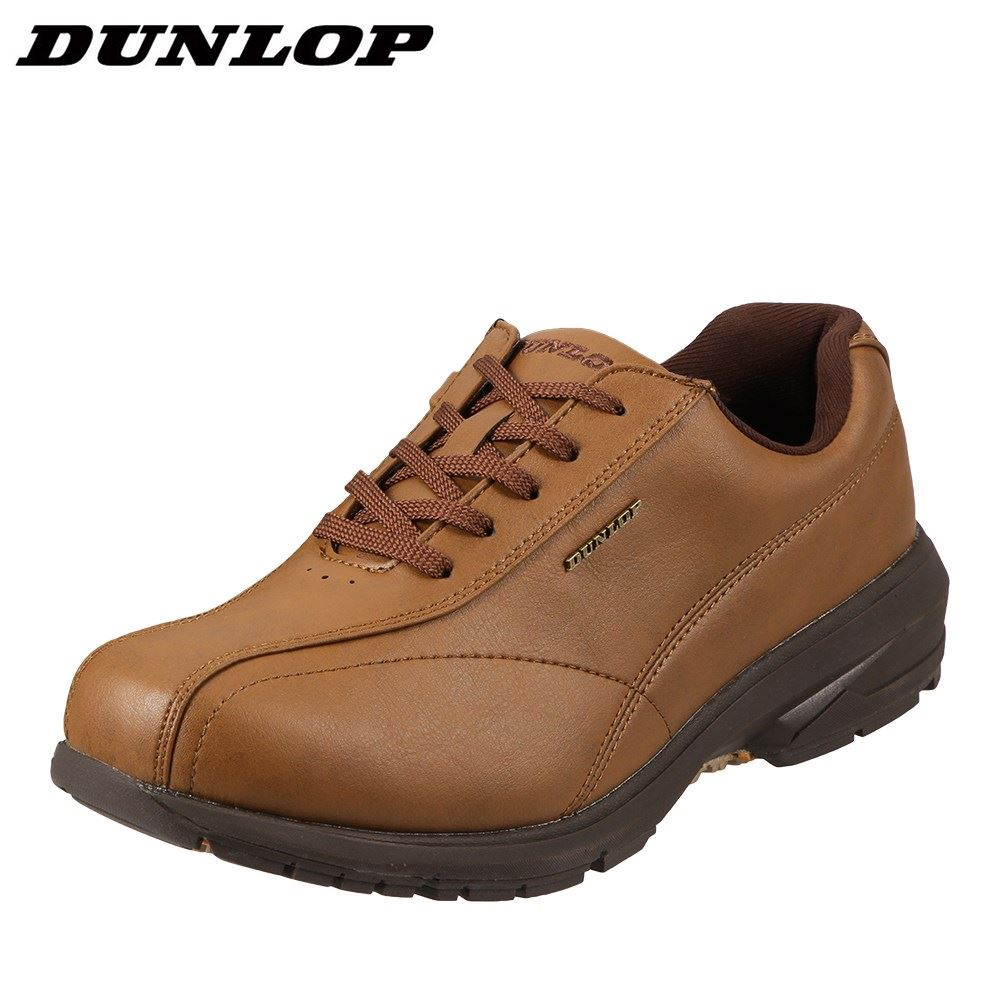 ダンロップ DUNLOP ウォーキングシューズ DW014 メンズ 靴 シューズ 4E相当 ウォーキングシューズ 軽量 ローカットスニーカー レースアップ 幅広 防臭加工 大きいサイズ対応 28.0cm キャメル SP