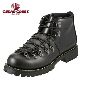 セダークレスト ブーツ CEDAR CREST ブーツ CC-1574 メンズ 靴 シューズ 3E相当 マウンテンブーツ 本革 ワークブーツ レースアップ 幅広 やわらかい 履きやすい 大きいサイズ対応 28.0cm ブラック SP