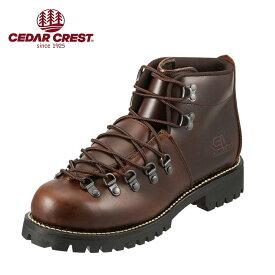 セダークレスト ブーツ CEDAR CREST ブーツ CC-1574 メンズ 靴 シューズ 3E相当 ワークブーツ 本革 レースアップ 幅広 衝撃吸収 クッション性 やわらかい 履きやすい 大きいサイズ対応 28.0cm ダークブラウン SP