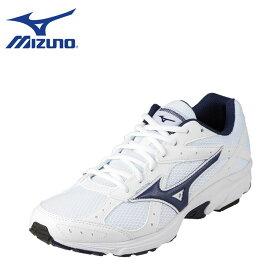 ミズノ MIZUNO スニーカー K1GA181618 メンズ靴 靴 シューズ 3E相当 ランニングシューズ ローカットスニーカー 幅広 スポーツ ジム 大きいサイズ対応 28.0cm 29.0cm 30.0cm ホワイト×ネイビー SP