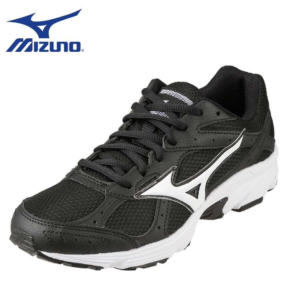 [マラソン期間中ポイント5倍]ミズノ MIZUNO スニーカー K1GA181708 レディース靴 靴 シューズ 3E相当 ランニングシューズ ローカットスニーカー 幅広 スポーツ ジム 大きいサイズ対応 25.0cm ブラック×ホワイト SP