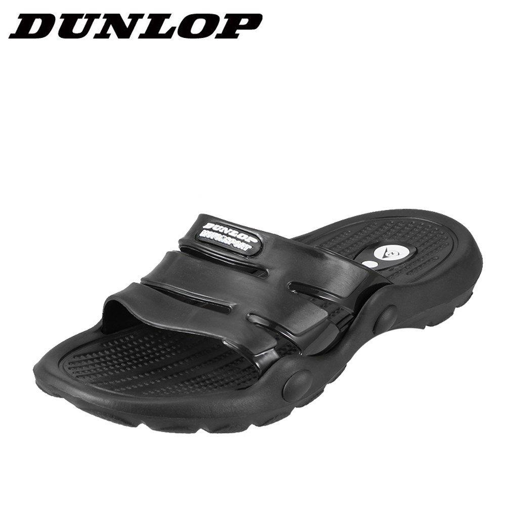 [マラソン期間中ポイント5倍]ダンロップ DUNLOP サンダル SW322A メンズ靴 靴 シューズ 3E相当 スポーツサンダル スポサン 軽量 幅広 シャワーサンダル ビーチサンダル 小さいサイズ対応 24.0cm 24.5cm ブラック SP