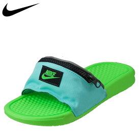 ナイキ NIKE サンダル スポーツサンダル AO1037-300 メンズ靴 靴 シューズ 2E相当 スポーツサンダル スポサン ベナッシ JDI ファニー パック シャワーサンダル ジム レジャー 海水浴 川 人気ブランド おしゃれ ブルー×グリーン SP