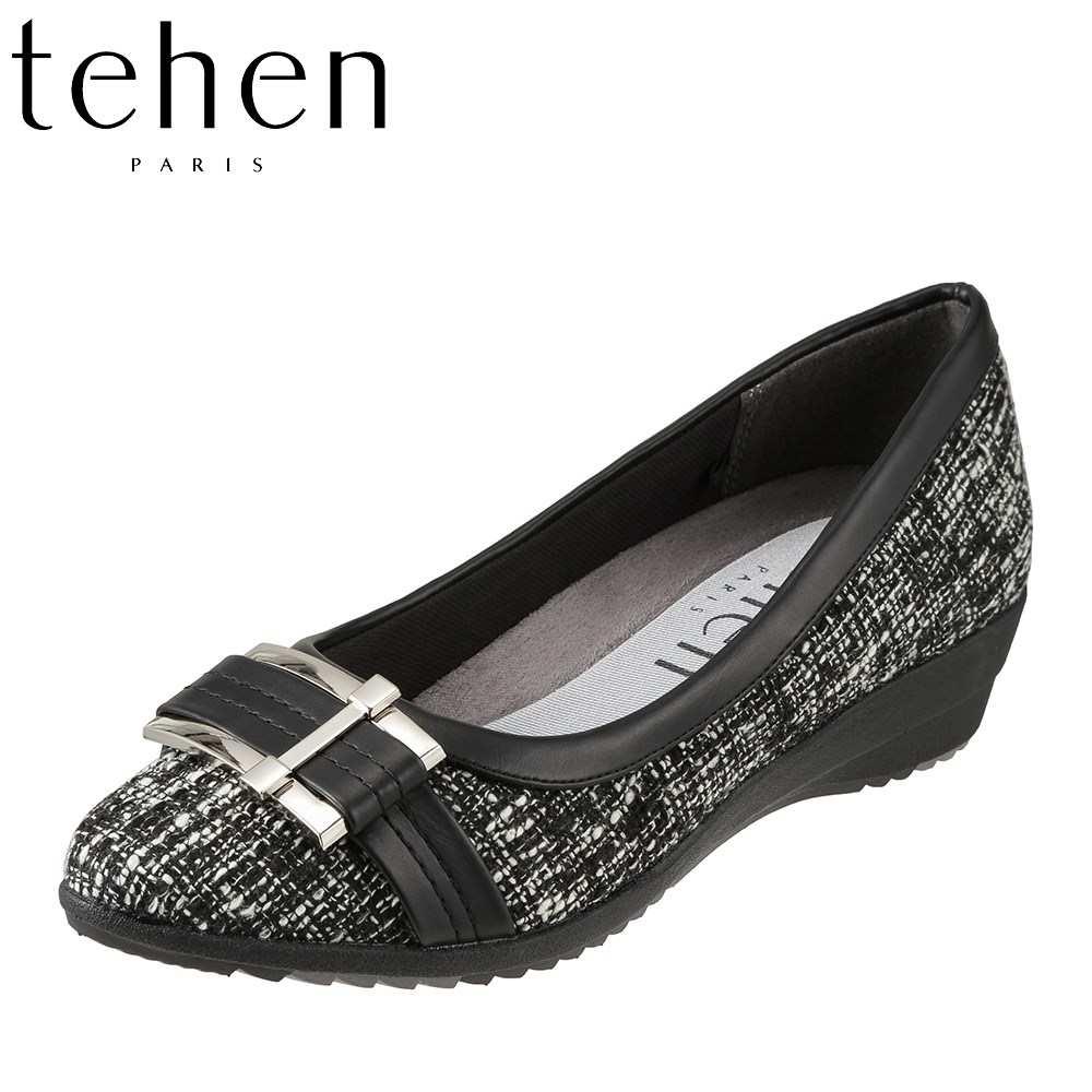 テーン tehen パンプス TN5420 レディース靴 靴 シューズ 2E相当 ポインテッドトゥ パンプス ウェッジソール バックル クッション性 歩きやすい カジュアル 人気 ブランド おしゃれ オーク SP
