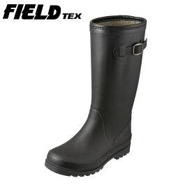 フィールドテックス FIELDTEX スノーシューズ RL-1221 レディース靴 靴 シューズ 3E相当 スノーブーツ ラバーブーツ 長靴 雪靴 ロングブーツ シンプル ベルト 大きいサイズ対応 25.0cm ブラック SP
