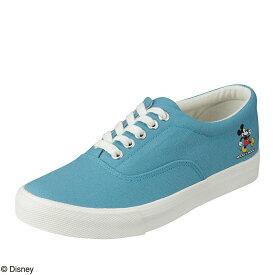 ディズニー Disney スニーカー DN-727 レディース靴 靴 シューズ 3E相当 ローカットスニーカー レースアップ ミッキー ディズニー カジュアル ワンポイント 大きいサイズ対応 ブルー SP