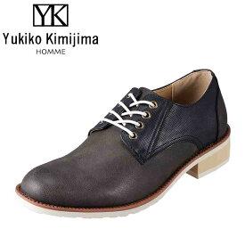ユキコキミジマオム Yukiko Kimijima HOMME カジュアルシューズ YK260 メンズ靴 靴 シューズ 3E相当 レースアップシューズ オックスフォードシューズ 革靴 短靴 アメカジ ストリート カジュアル 大きいサイズ対応 28.0cm ネイビー SP