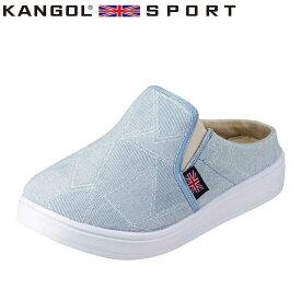カンゴールスポーツ KANGOL SPORT KG9398A レディース靴 靴 シューズ 2E相当 カジュアルクロッグサンダル デニム柄 ふかふか インソール 大きいサイズ対応 サックス SP