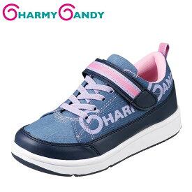 チャーミーキャンディ CHARMY CANDY CCB-1007 キッズ靴 2E相当 スニーカー 防水 ガールズスニーカー 女子 女の子 ネイビー SP