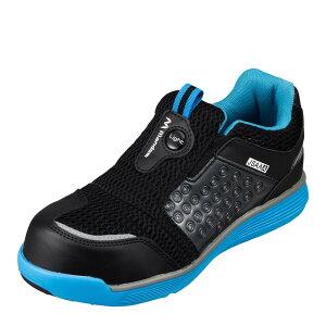 マンダム MANDOM 767 レディース靴 靴 シューズ 4E相当 セーフティーシューズ 安全靴 幅広 4E 樹脂先芯入り 通気性 蒸れにくい ブルー×ブラック SP