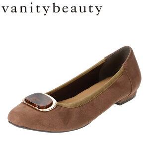バニティービューティー vanitybeauty VA95336 レディース靴 靴 シューズ E相当 パンプス べっ甲 モチーフ スクエアトゥ クッション インソール ベージュスエード SP
