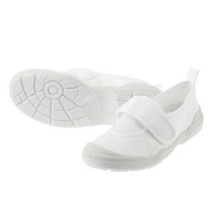 [オトナノウワバキ] 大人の上履き 2 11210561L レディース   大人用上履き   室内履き 軽量   リハビリ 介護 病院   甲ベルト 着脱簡単   ホワイト SP