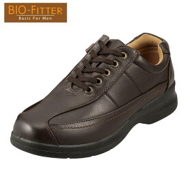[バイオフィッター ベーシックフォーメン] Bio Fitter BF-2907 メンズ   メンズカジュアルシューズ   多機能   4E 幅広   定番 人気   ダークブラウン SP