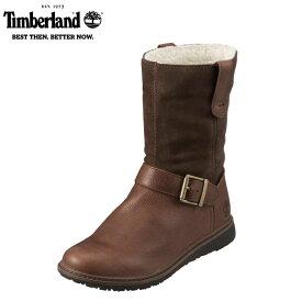 [ティンバーランド] Timberland TIMB A113O レディース   エンジニア風ブーツ   アッシュデイル ミッドカット   防水加工 ショートブーツ   ダークブラウン SP