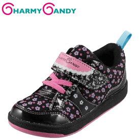 [チャーミーキャンディ] CHARMY CANDY CCG-34 キッズ・ジュニア | キッズシューズ | 子供靴 コートスニーカー | 花柄 フラワーモチーフ | かわいい 女の子 | ブラック SP