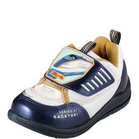 [プラレール] PLARAIL PR16159K キッズ・ジュニア | キッズシューズ 子供靴 | プラレール カガヤキ | 新幹線 プリント | 面ファスナー 男の子 | ホワイト  SP