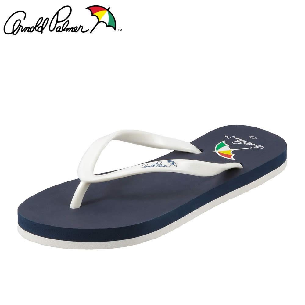 [アーノルドパーマー] Arnold Palmer AP8002 レディース | ビーチサンダル | トングサンダル カジュアル | バイカラー ぺたんこ | 大きいサイズ対応 25.0cm | ネイビー SP