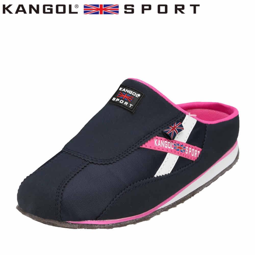[カンゴールスポーツ] KANGOL SPORT KG9144 レディース | カジュアルサンダル | コンフォートサンダル オフィスサンダル | 軽量 | 大きいサイズ対応 25.0cm 25.5cm | ネイビー SP