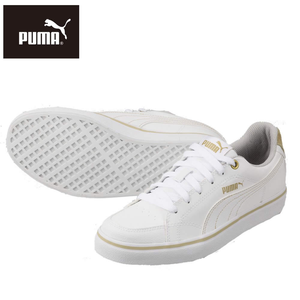 [プーマ] PUMA 357679 18A レディース | カジュアルスニーカー | コートポイント VU SL BG | ローカット コートタイプ | 大きいサイズ対応 25.0cm | ホワイト TSRC