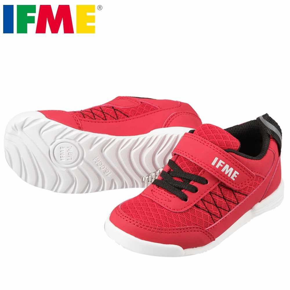 [イフミー] IFME 22-7202 キッズ・ジュニア   キッズ スニーカー   軽量 コートタイプ   幅広 ゆったり   子供靴 男の子 女の子   レッド TSRC