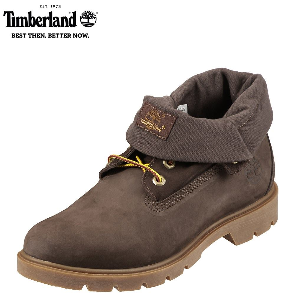 ティンバーランド Timberland ブーツ TIMB A1L5U メンズ 靴 シューズ 3E相当 ショートブーツ 本革 撥水 レースアップ 幅広 ロールトップ カジュアル 大きいサイズ対応 28.0cm ダークブラウン TSRC
