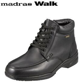 [マラソン中ポイント5倍]マドラスウォーク madras Walk ブーツ SPMW5478 メンズ 靴 シューズ 4E相当 ショートブーツ 防水 幅広 防滑 歩きやすい 仕事 通勤 ビジネス 小さいサイズ対応 24.5cm ブラック TSRC