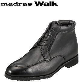 [マラソン中ポイント5倍]マドラスウォーク madras Walk ブーツ SPMW8006 メンズ 靴 シューズ 4E相当 ショートブーツ 防水 幅広 防滑 歩きやすい 仕事 通勤 ビジネス 小さいサイズ対応 24.5cm ブラック TSRC