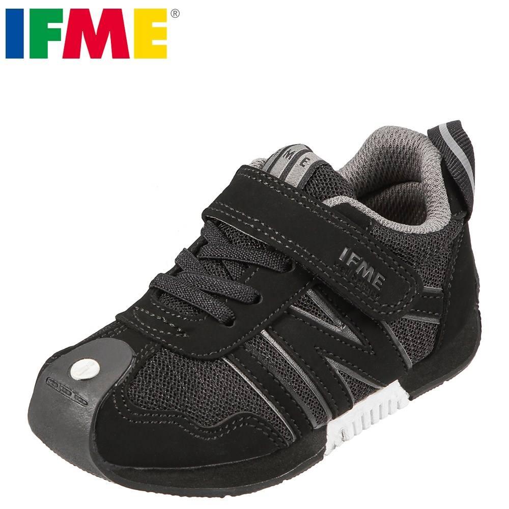 イフミー IFME スニーカー 30-5711 キッズ 靴 シューズ 3E相当 ローカットスニーカー 子供 男の子 女の子 幅広 通学 通園 幅広 ブラック TSRC
