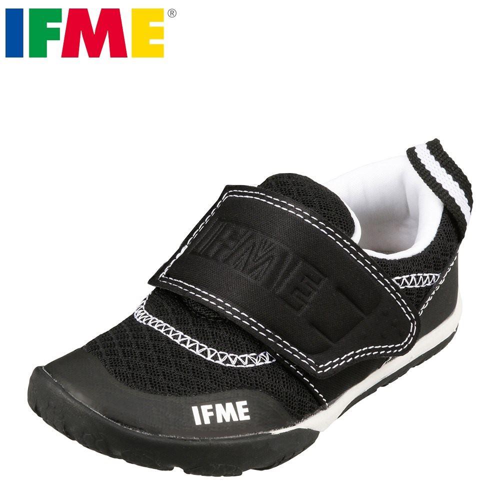 イフミー IFME スニーカー 22-7706 キッズ 靴 シューズ 3E相当 ローカットスニーカー 子供 男の子 女の子 スポーツ 運動会 通学 体育 幅広 ブラック TSRC