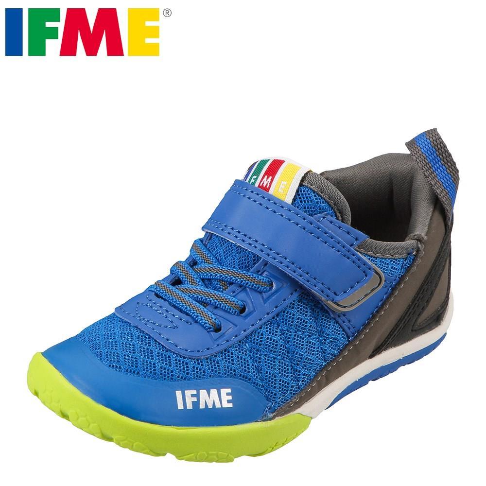 イフミー IFME スニーカー 22-7707 キッズ 靴 シューズ 3E相当 ローカットスニーカー 子供 男の子 スポーツ 運動会 通学 体育 幅広 ブルー TSRC