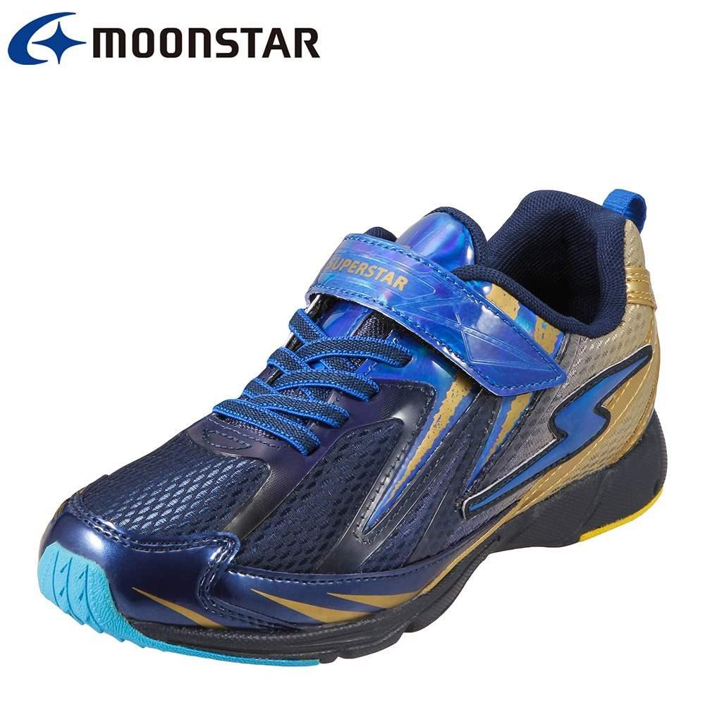 スーパースター SUPER STAR スニーカー SS J822 T キッズ靴 靴 シューズ 2E相当 ランニングシューズ 子供 男の子 ローカットスニーカー 軽量 運動会 通学 体育 ブルー TSRC