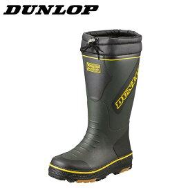ダンロップ DUNLOP レインシューズ BG324 メンズ靴 靴 シューズ スノーブーツ 軽量 レインブーツ 長靴 防寒 冬靴 雪靴 ロングブーツ インソール 取り外し オリ−ブ TSRC
