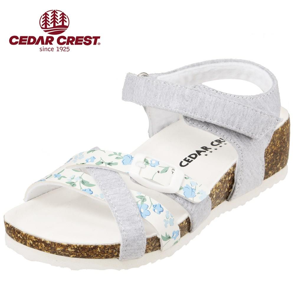 セダークレスト CEDAR CREST サンダル CC-3067 キッズ靴 靴 シューズ 2E相当 ウェッジソールサンダル 子供 女の子 コンフォートサンダル かわいい おしゃれ グレー TSRC