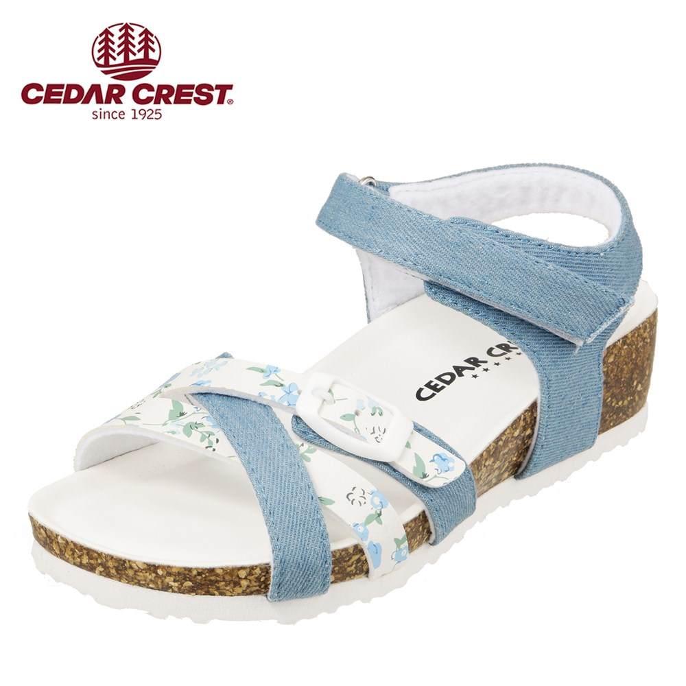 セダークレスト CEDAR CREST サンダル CC-3067 キッズ靴 靴 シューズ 2E相当 ウェッジソールサンダル 子供 女の子 コンフォートサンダル かわいい おしゃれ サックス TSRC