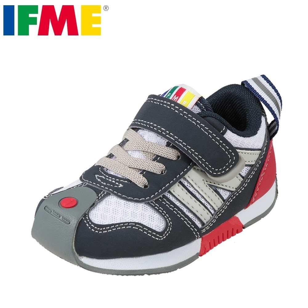 イフミー IFME スニーカー 30-8012 キッズ靴 靴 シューズ 3E相当 キッズスニーカー 子供 男の子 ローカットスニーカー 幅広 ゆったり 履かせやすい ホワイト TSRC