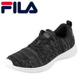 フィラ FILA スニーカー FCY-5207W レディース靴 靴 シューズ 3E相当 ランニングシューズ ローカットスニーカー 通気性 幅広 スポーツ ジム 小さいサイズ対応 22.5cm ブラック TSRC