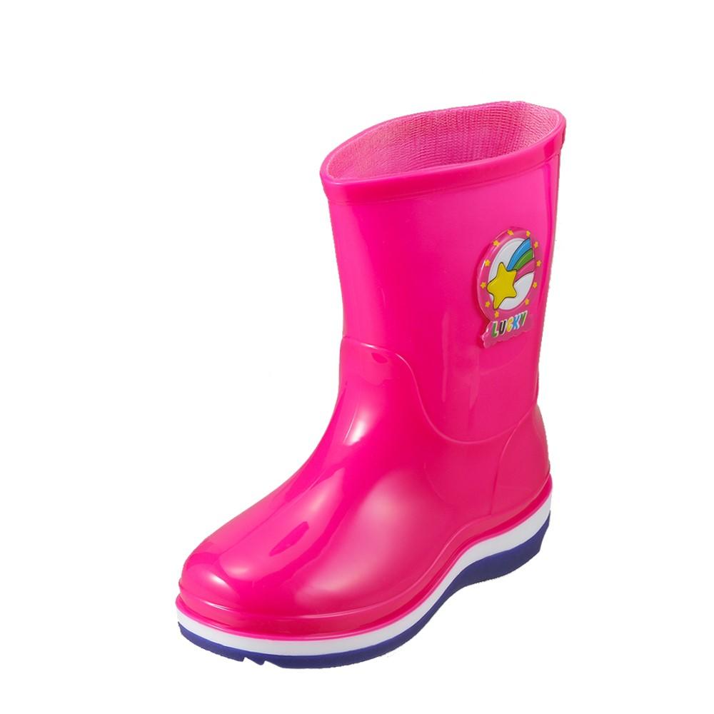 長靴・レインシューズ 427 キッズ靴 靴 シューズ 3E相当 レインブーツ 長靴 子ども 女の子 通園 通学 おでかけ シンプル ピンク TSRC