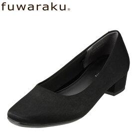 フワラク fuwaraku パンプス FR-1107 レディース靴 靴 シューズ 3E相当 スクエアトゥパンプス 撥水 はっ水 ローヒール 冠婚葬祭 就活 リクルート オフィス 通勤 仕事 大きいサイズ対応 24.5cm 25.0cm 25.5cm ブラックサテン TSRC