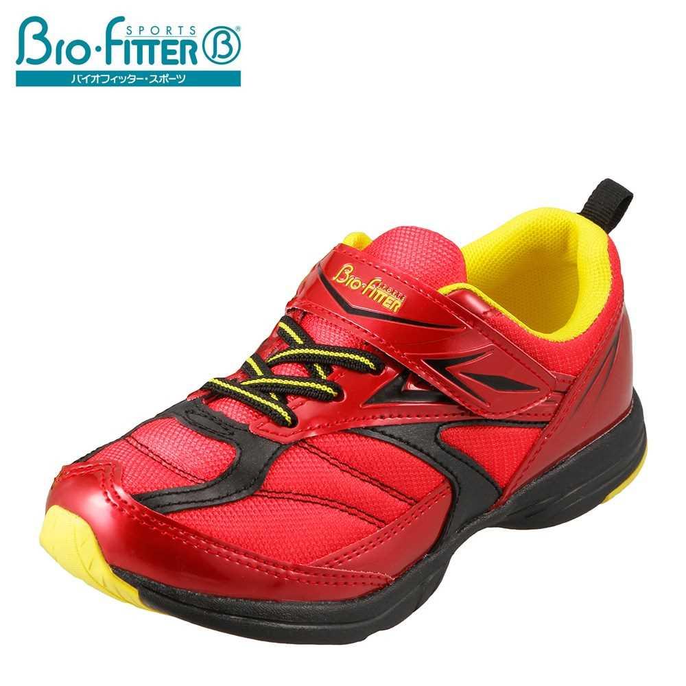 バイオフィッター スポーツ Bio Fitter スニーカー BF-361 キッズ靴 靴 シューズ 3E相当 ジュニアスニーカー 軽量 子ども 男の子 通学 体育 学校 スポーツ ローカット レッド TSRC