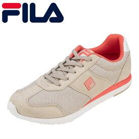 【期間限定価格】フィラ FILA スニーカー FRU-117 レディース靴 靴 シューズ 3E相当 ローカットスニーカー Ardea カジュアル ランニングモデル 大きいサイズ対応 24.5cm ベージュ TSRC