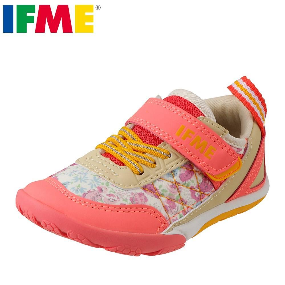 イフミー IFME スニーカー 22-8710 キッズ靴 靴 シューズ 3E相当 ローカットスニーカー 子ども 女の子 軽量 履きやすい 歩きやすい 反射材 リフレクター かわいい ピンク TSRC
