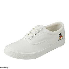 ディズニー Disney スニーカー DN-727 レディース靴 靴 シューズ 3E相当 ローカットスニーカー レースアップ ミッキー ディズニー カジュアル ワンポイント 大きいサイズ対応 ホワイト TSRC