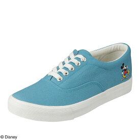 ディズニー Disney スニーカー DN-727 レディース靴 靴 シューズ 3E相当 ローカットスニーカー レースアップ ミッキー ディズニー カジュアル ワンポイント 大きいサイズ対応 ブルー TSRC