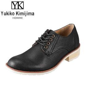 ユキコキミジマオム Yukiko Kimijima HOMME カジュアルシューズ YK260 メンズ靴 靴 シューズ 3E相当 レースアップシューズ オックスフォードシューズ 革靴 短靴 アメカジ ストリート カジュアル 大きいサイズ対応 28.0cm ブラック TSRC