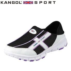 カンゴールスポーツ KANGOL SPORT スポーツサンダル KG8780AA レディース靴 靴 シューズ 3E相当 クロッグシューズ 2WAY 二通り かかと 踏める 大きいサイズ対応 ブラック TSRC